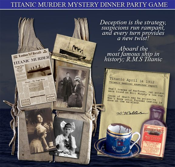 Dinner Party Activities Ideas Part - 39: Titanic Party Ideas | ... MYSTERY PARTY GAME Now, Titanic, Alice In