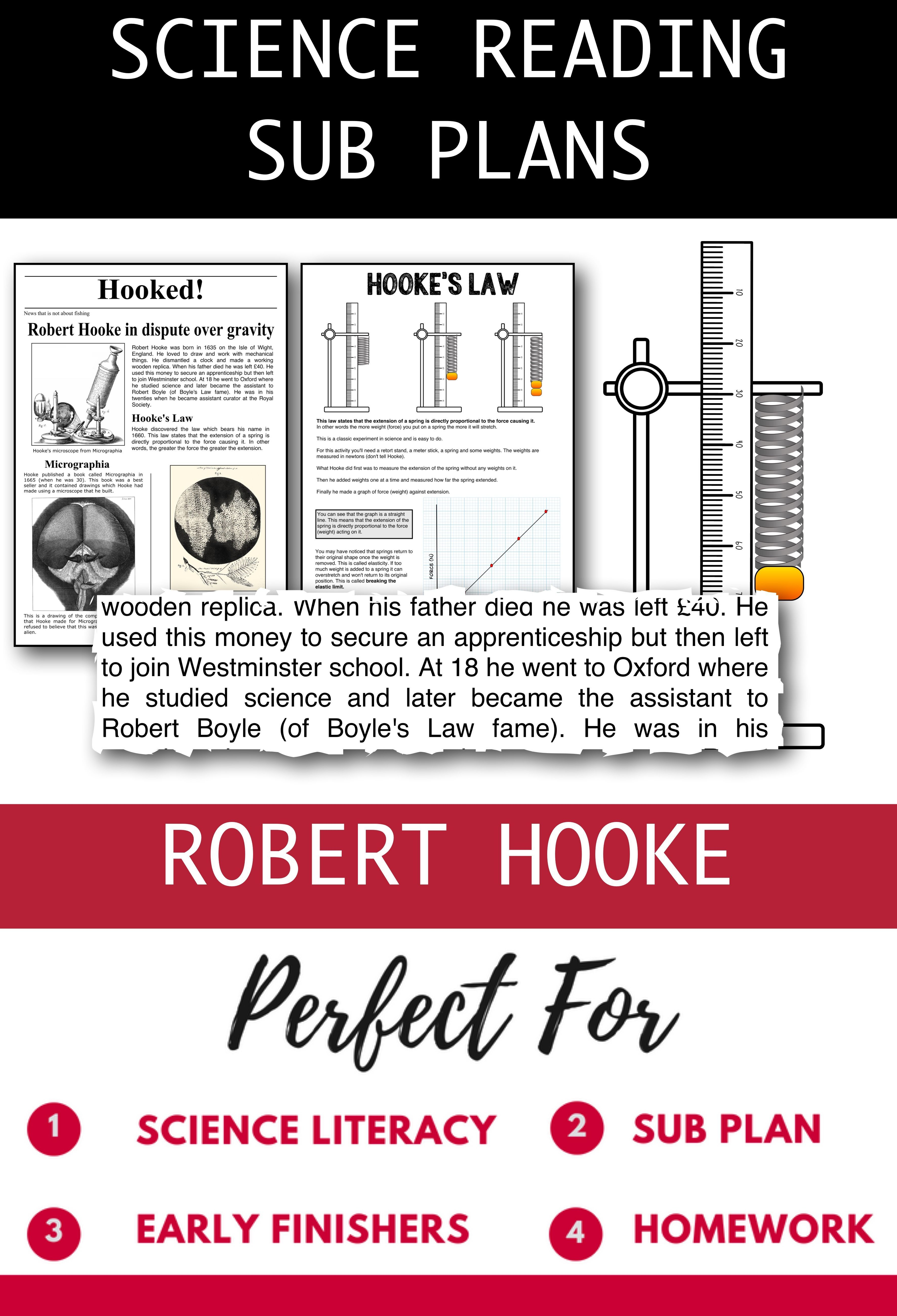 Distance Learning Science Literacy Robert Hooke Science