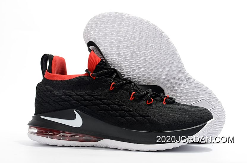 ed39b6a25df04 2019 的 Nike LeBron 15 Low Black Red-White Authentic 主题