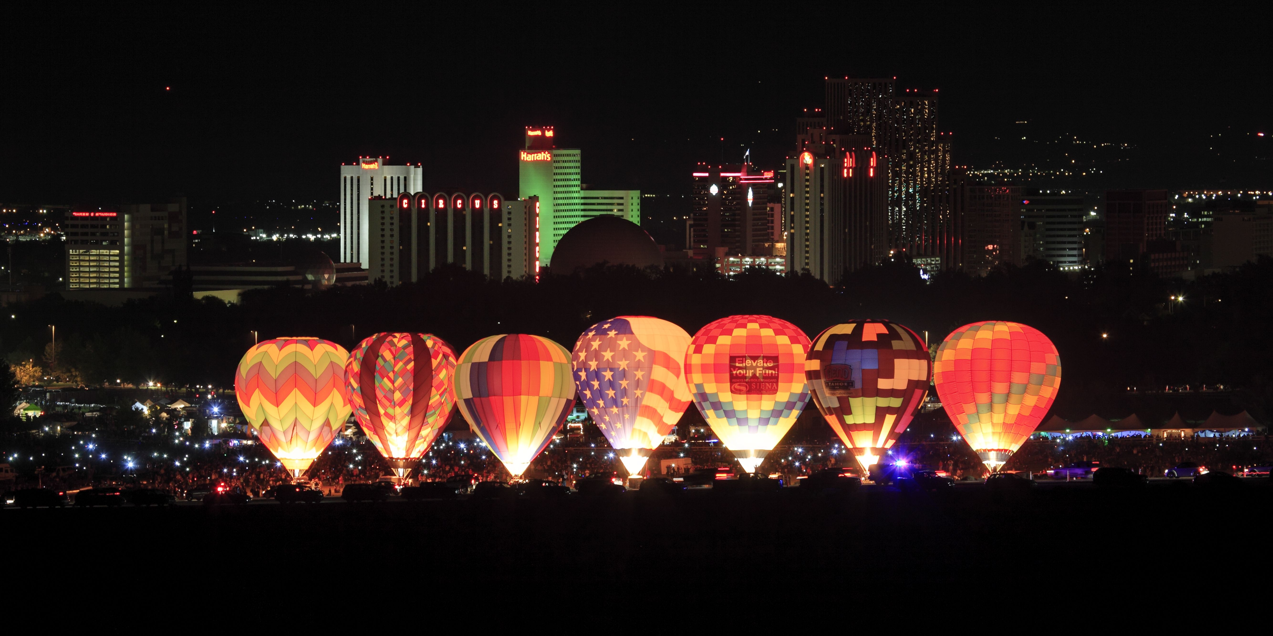 Reno Balloon Race 2013 Dawn Patrol light show Balloon