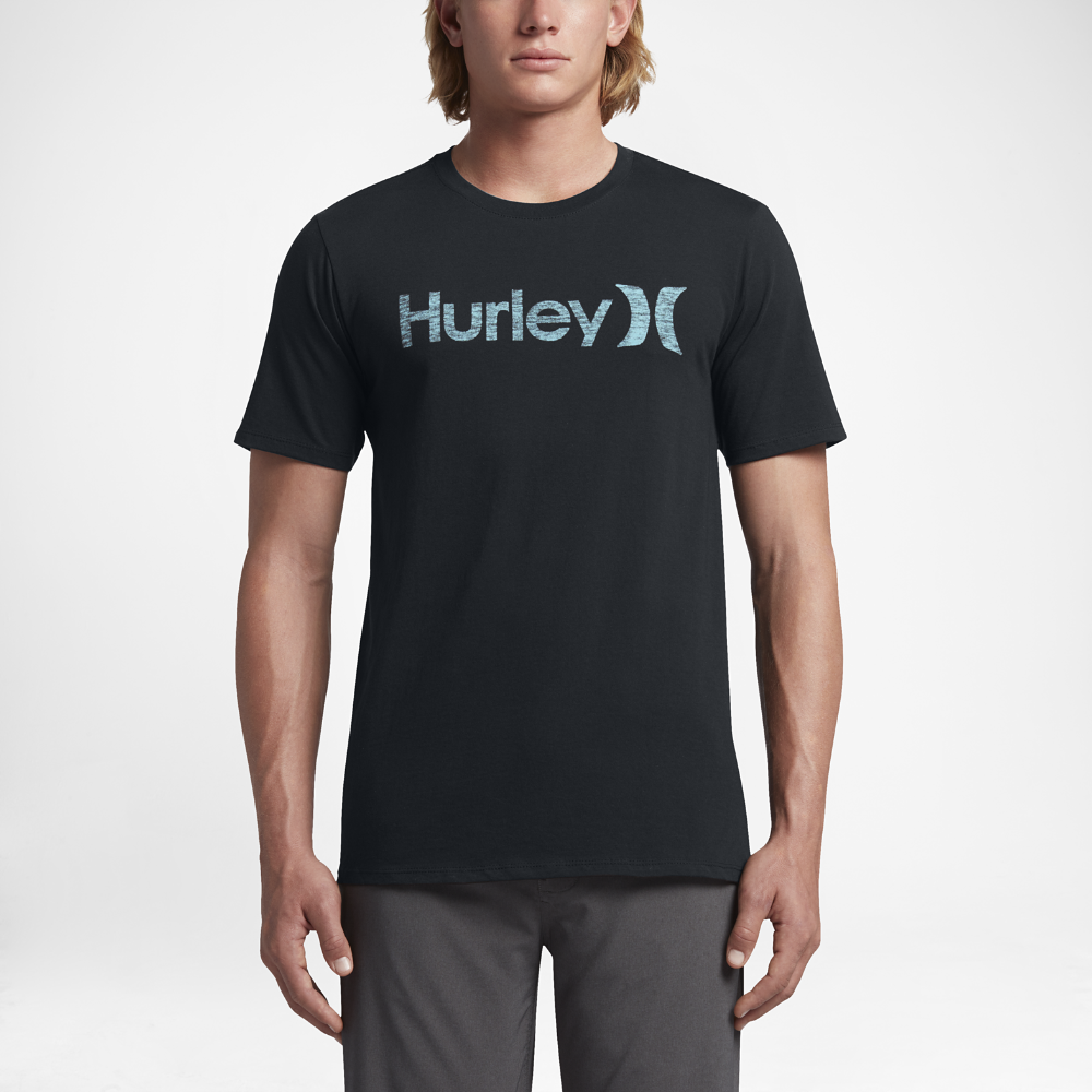 Hurley One and Only Push Through Men s T-Shirt Size Medium (Black ... be4ee0cca1d