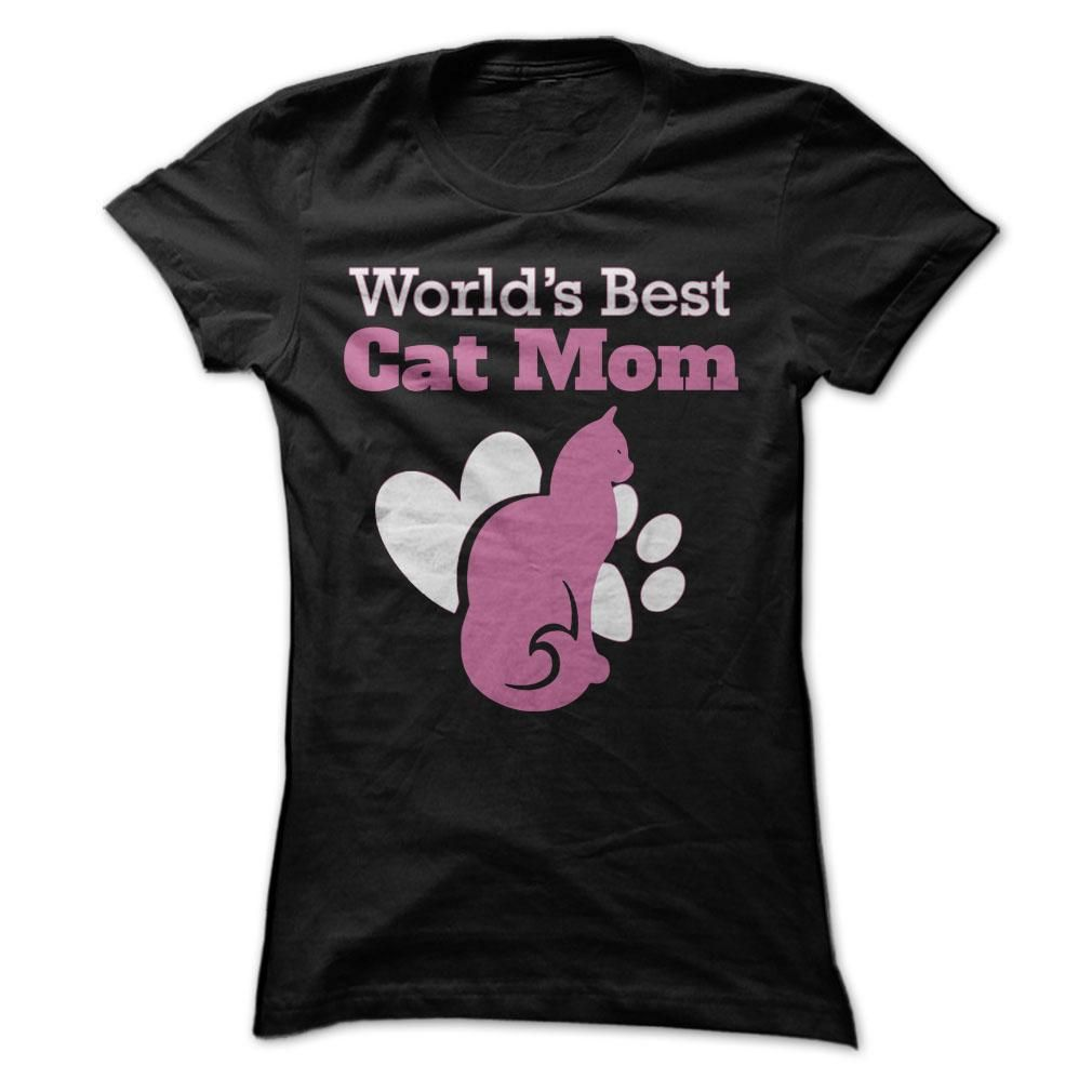 World s Best Cat Mom T Shirt Hoo Tee Shirts ==■Shopping Now