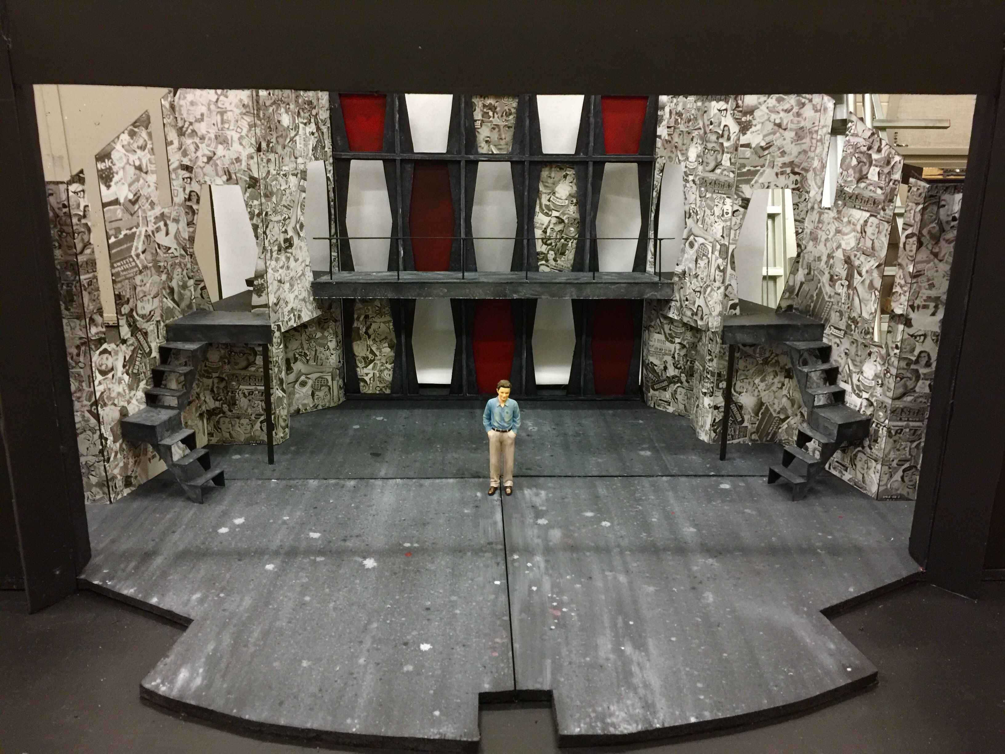 Scenic Design model for Grease, the musical, at Tarrant County College (C. A. Roberson Theatre, Arlington, TX). Scenic Design by Luke Atkison #theatre ...