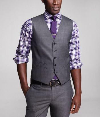 gris + violeta. formalmente casual 6e5434792afd
