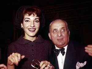 María Callas junto a su marido Giovanni Battista Meneghini en una imagen de 1958.