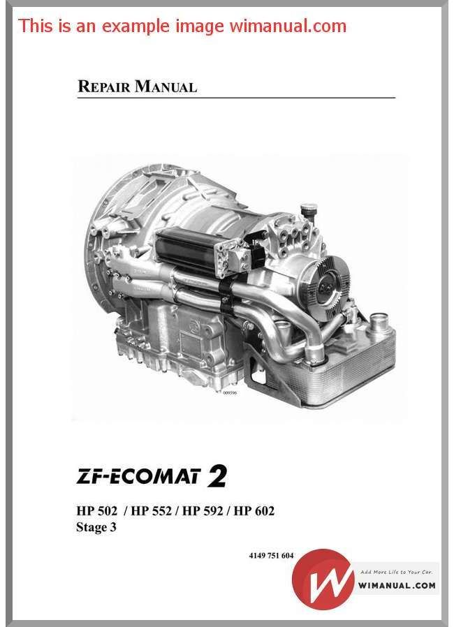 zf ecomat 2 hp502 552 592 602 repair manual pdf download this rh pinterest com  502 to ZF Transmission