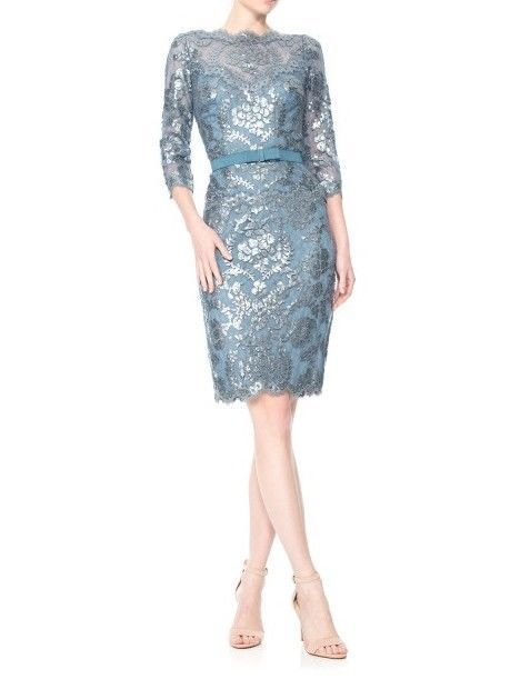 NWT Tadashi Shoji ¾ Sleeve Lace Paillette Dress in Clothing, Shoes & Accessories, Women's Clothing, Dresses | eBay
