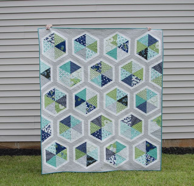 Hyacinth Quilt Designs: Triangle Hexies Quilt | Quilts | Pinterest ... : hyacinth quilt designs - Adamdwight.com