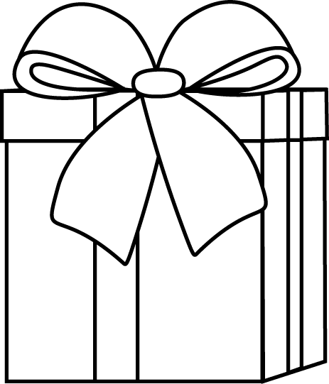 Black And White Christmas T Clip Art