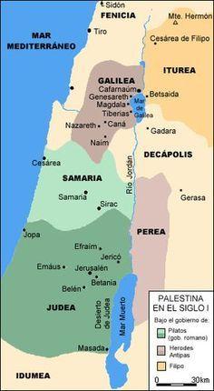 Palestina En Tiempos De Jesus Biblia Biblicas Cristianas Palestina