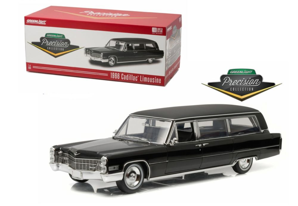 Greenlight Precision Collection 1966 Cadillac S&S Limousine Diecast Car 1:18 #PrecisionCollection #Cadillac