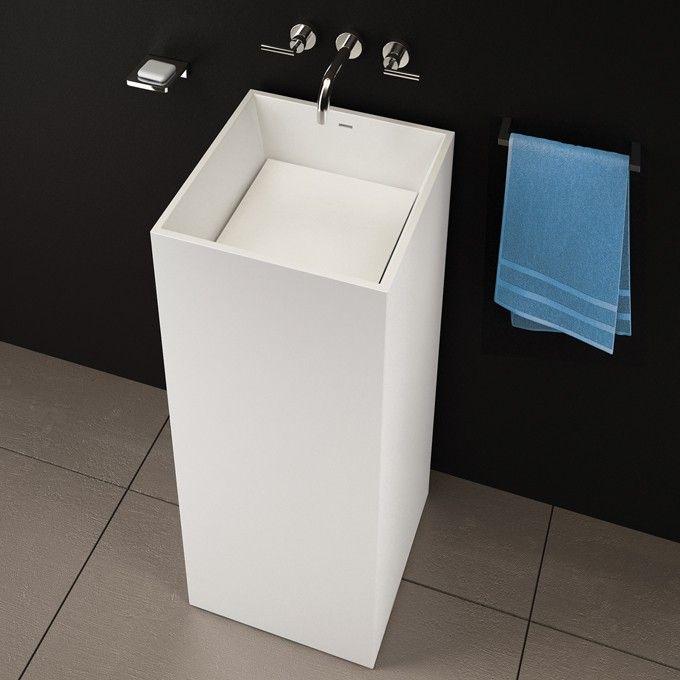 Blu Bathworks Blu Stone Square Freestanding Basin Modern Bathroom Sink Design