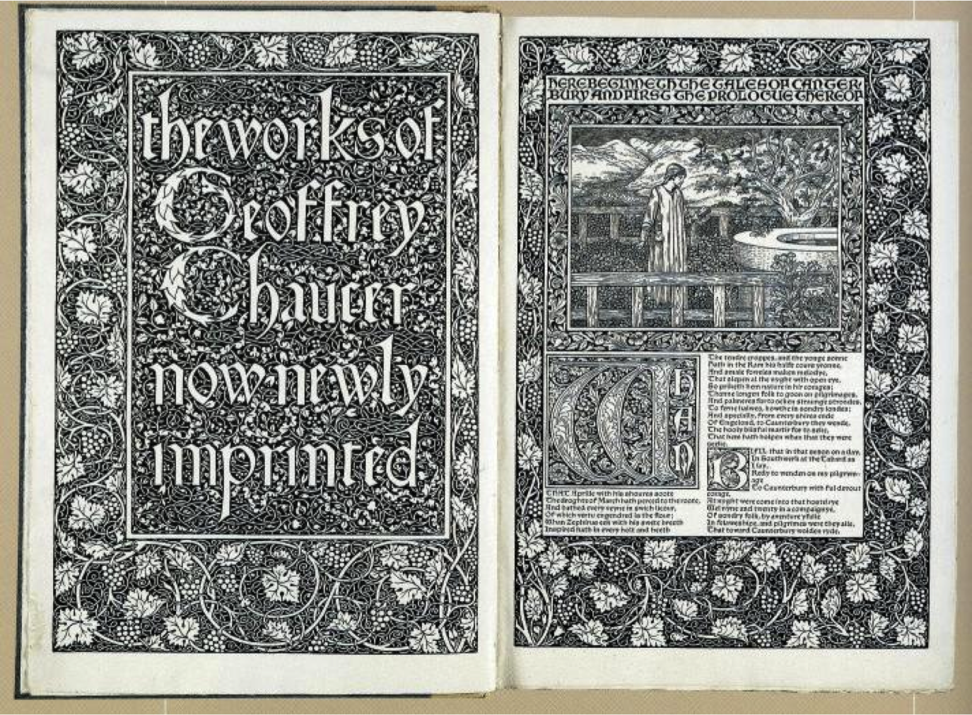 The Works Of Geoffrey Chaucer 1896 William Morris Arts And Crafts Movement William Morris Art