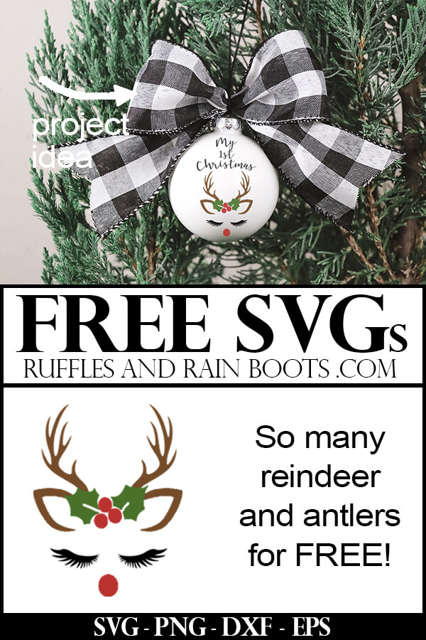 Download Free Reindeer SVGs and Antler SVGs for Christmas Crafts ...