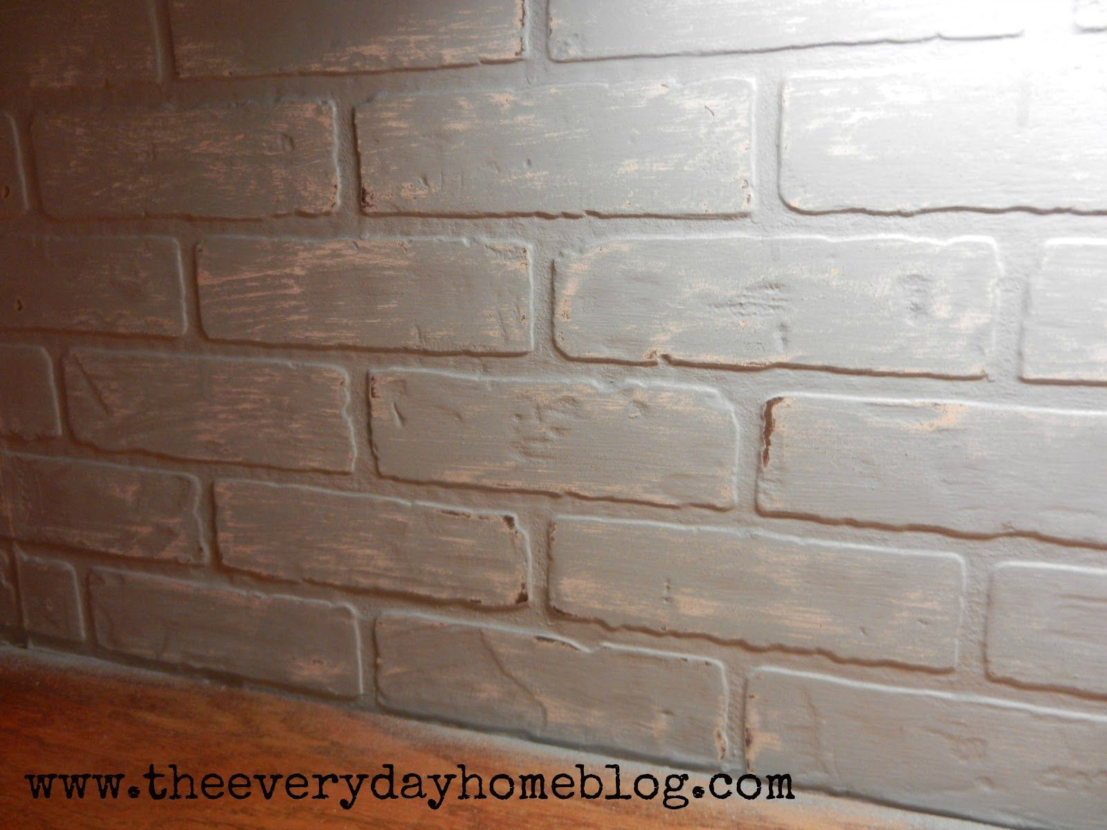 Budget Friendly Painted Brick Backsplash At Diy Home