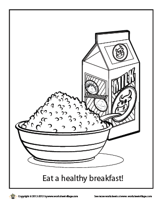 breakfast food coloring pages - photo#34