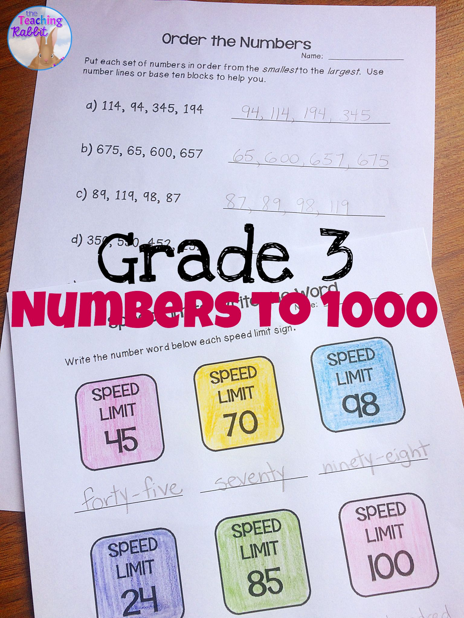 Numbers To Unit Grade 3