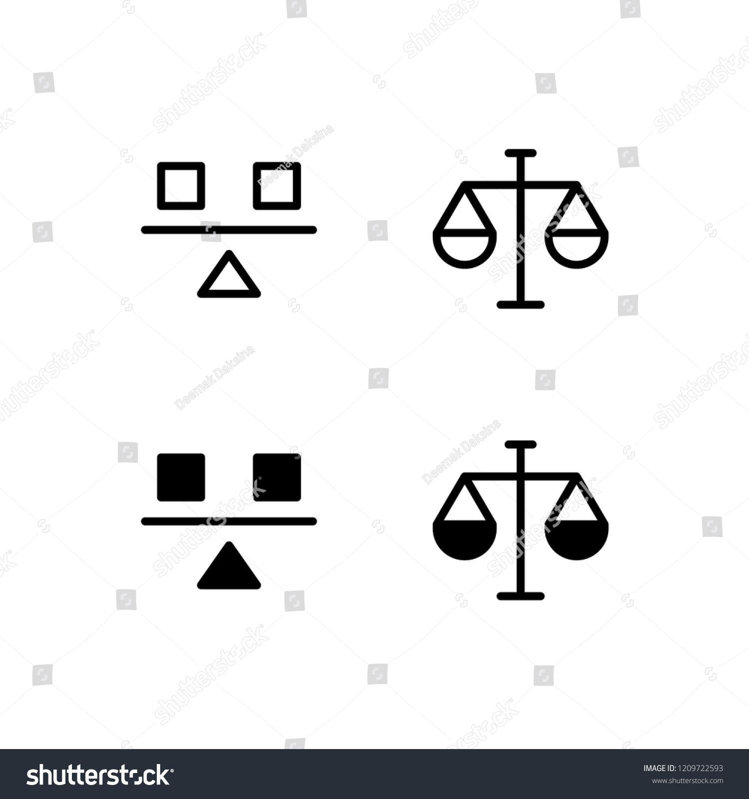 Balance Icon Design. balance, equality, equilibrium
