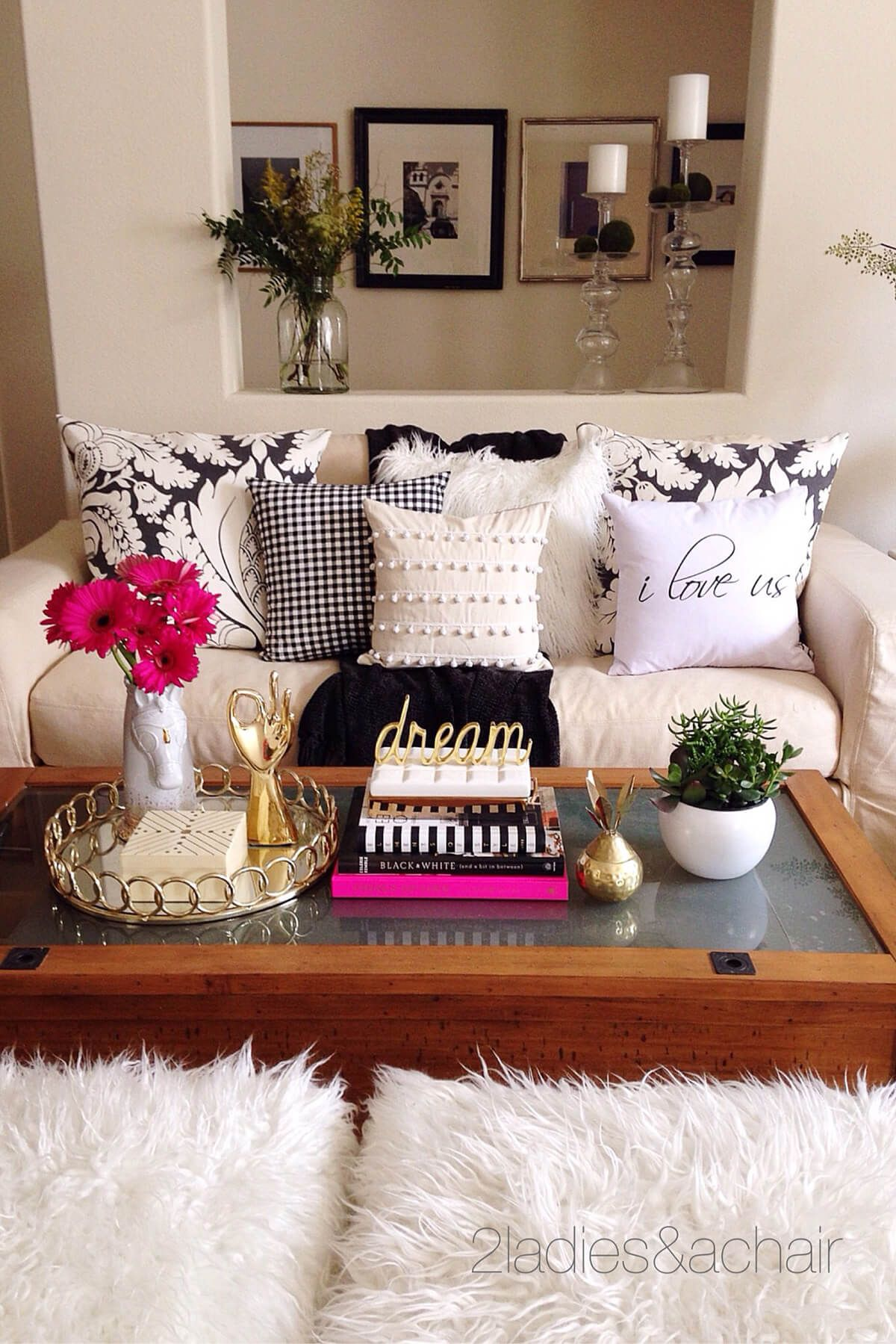 Easy Elegant Book Stack With Gold Accent Art Coffee Table In