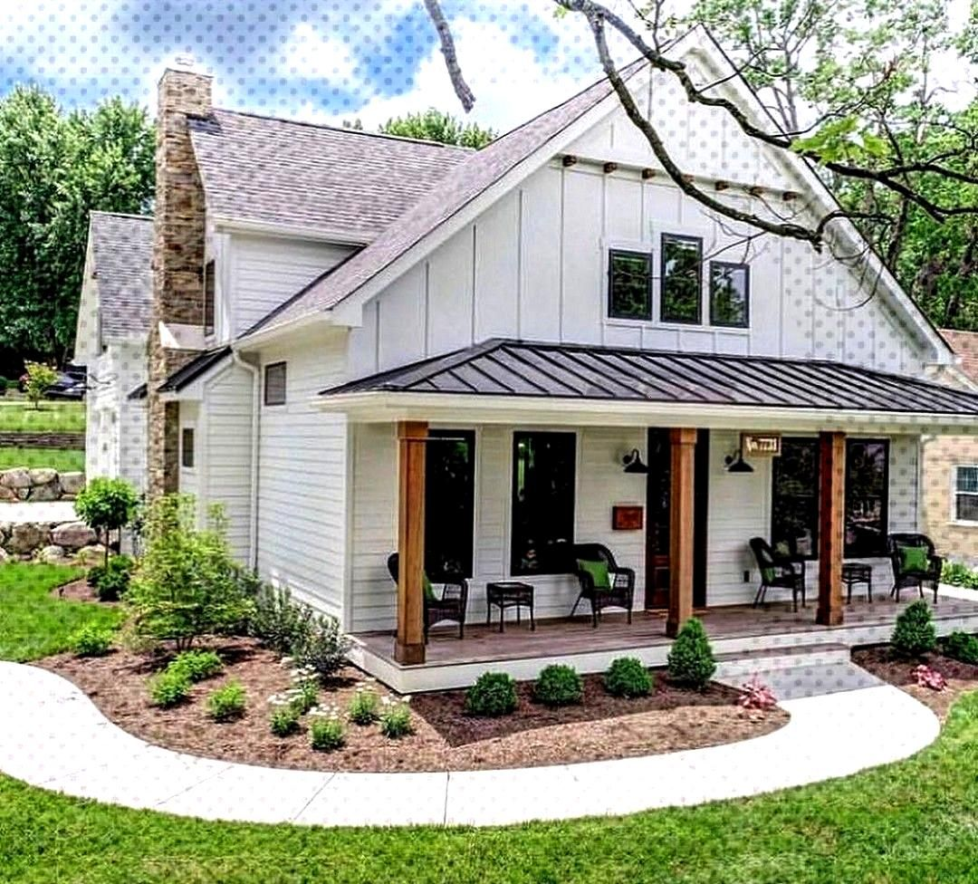 31 Farmhouse House Plans Pics of several modern farmhouses. I like a lot of the different elements.
