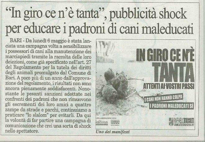 """Campagna di sensibilizzazione """"IN GIRO CE N'E' TANTA"""" AGENCY RAFFAELLO D'ACCOLTI"""