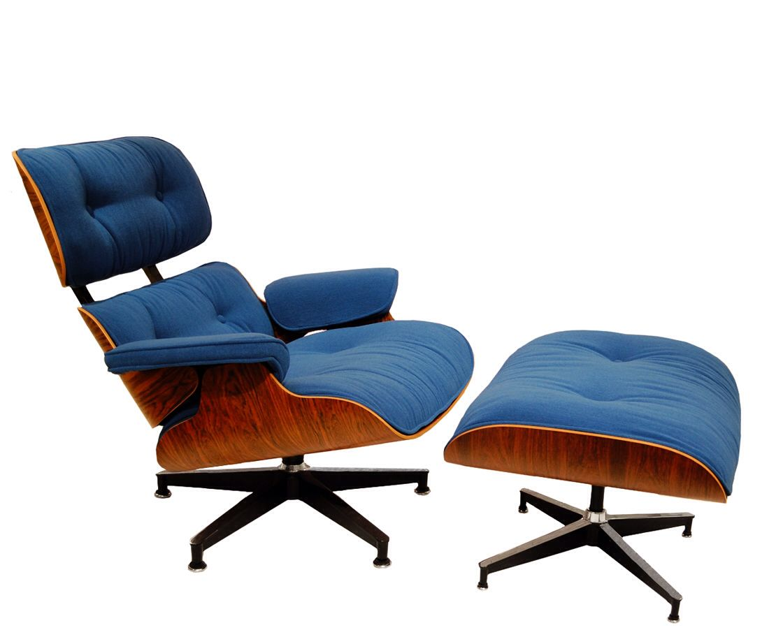 Blue Eames Chair Reupholster