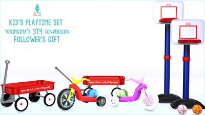 My Sims 4 Blog: Kid's Playtime Set by Ajoya