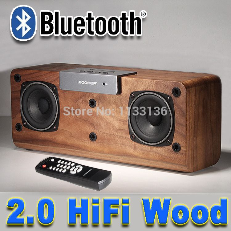 $188.88 (Buy here: http://appdeal.ru/cyds ) New 2016 Q2 Wooden Subwoofer Speaker Stereo Bluetooth 2.0 Wireless Smart Speakerphone, FM Radio Support SD Card for just $188.88