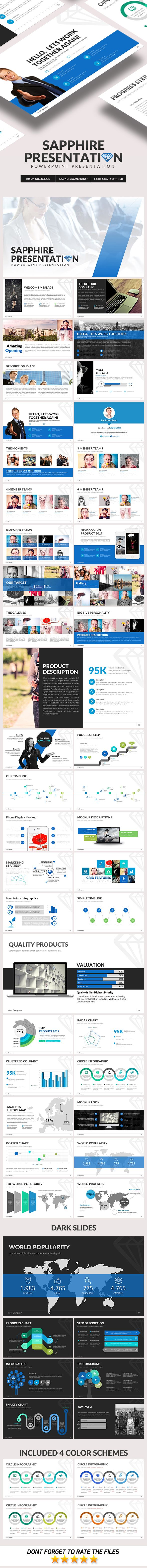 sapphire powerpoint template | business powerpoint templates, Modern powerpoint