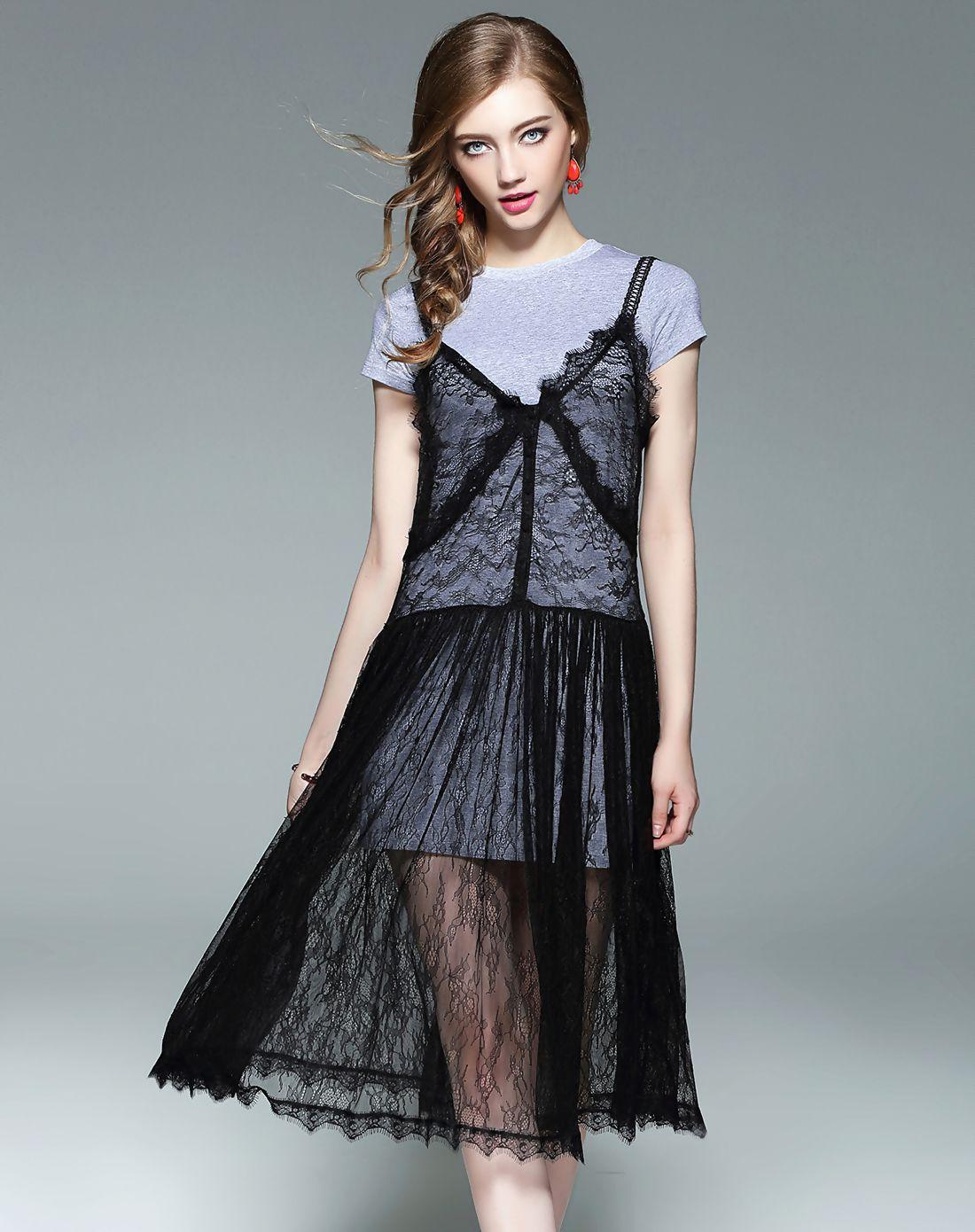 Adorewe vipme aline dressesdesigner wei guo yue crew neck