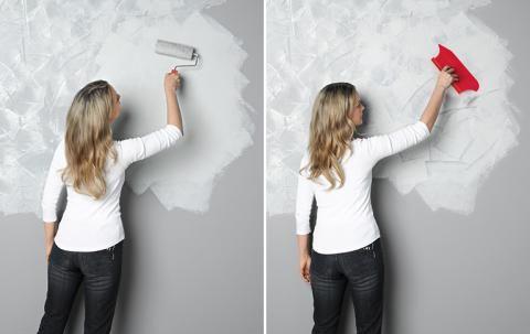 Anstrich Ideen Schlafzimmer  Wandgestaltung In Beton Optik Sch214;ner Wohnen Farbe