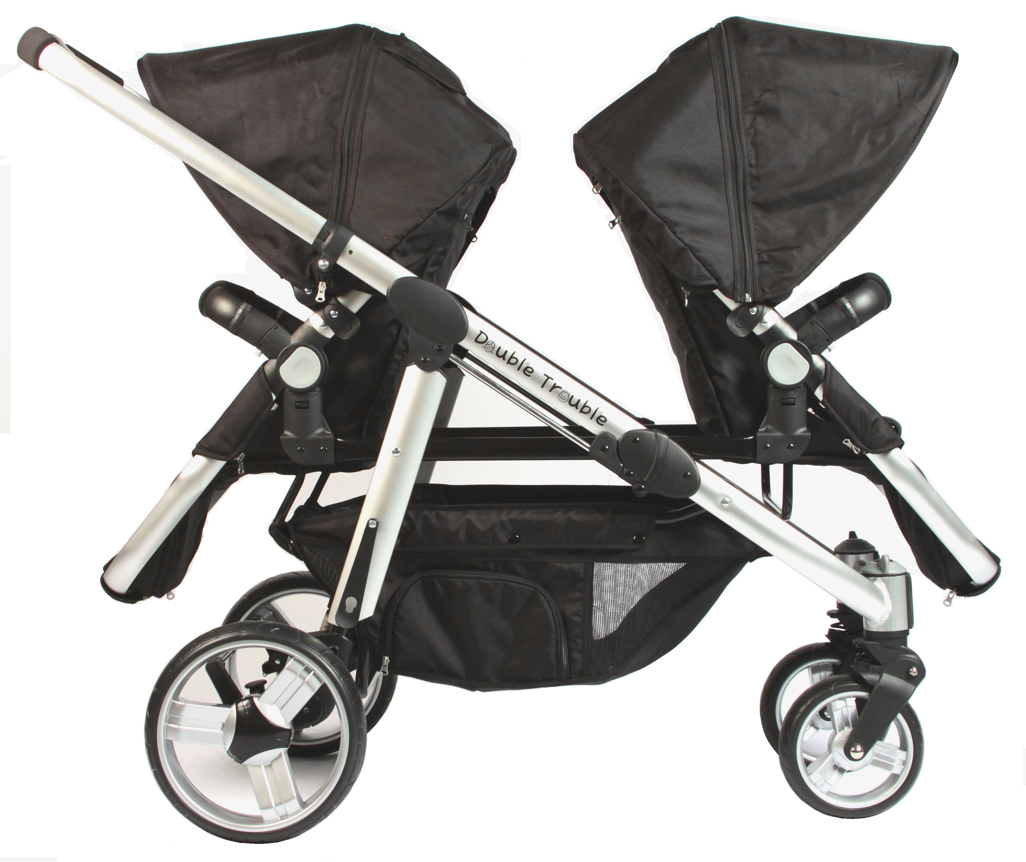 Twin Prams Travel Systems: Stroller Seats Back To Back
