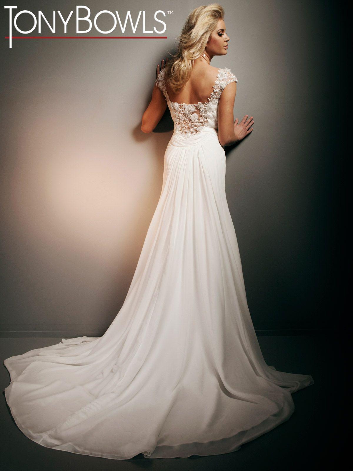 Tony Bowls Bridal, Style No. T212267 - tasteful way to do cap ...