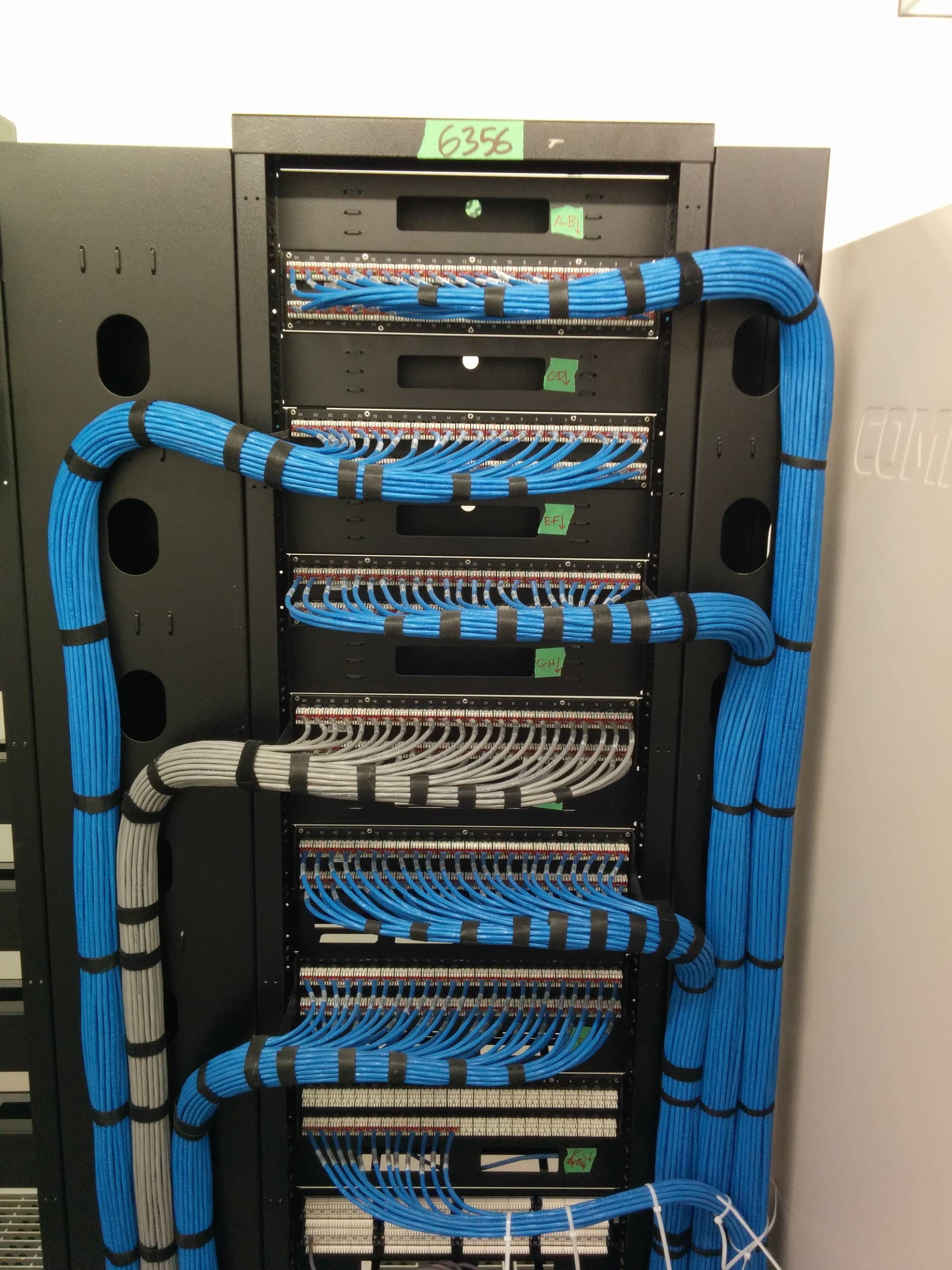 Serious patch panel install. Cat 5e Ethernet wiring. | Cable ...