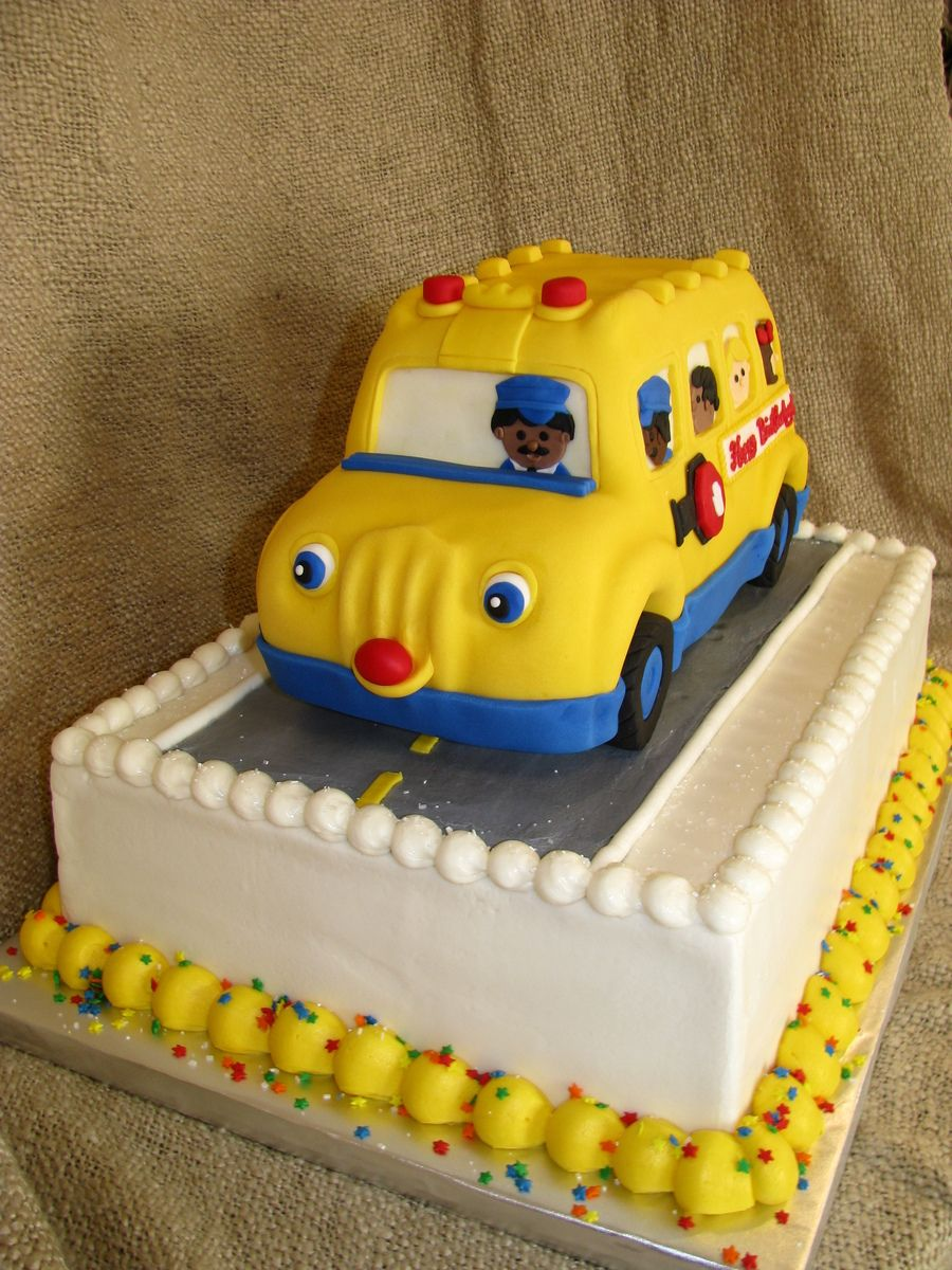 School Bus Birthday Cake Cakecentral Car Cakes Pinterest