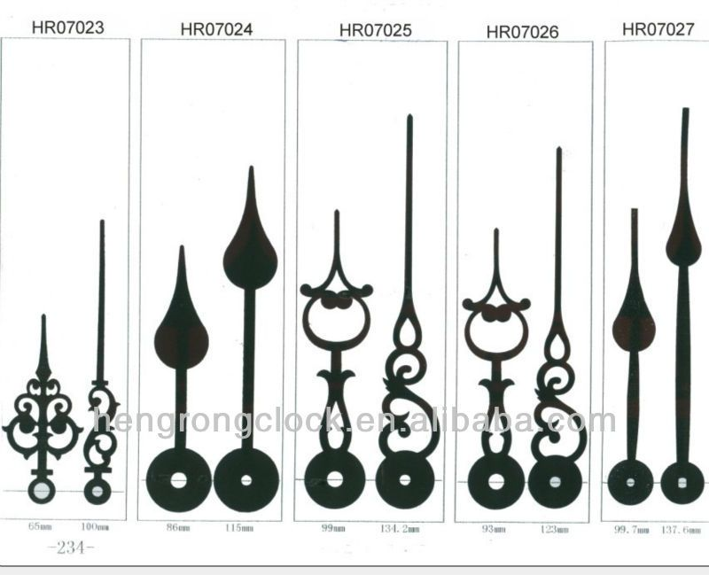 Clock Hands Pointers Arrows Used For Wall Clocks 0 01 30