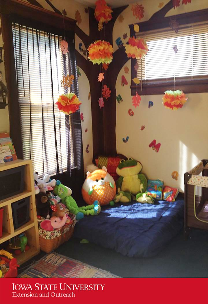 Home Daycare Reading Area Used A Baby Mattress That I: COZY AREA: Create A Place For Children To Relax By Using A