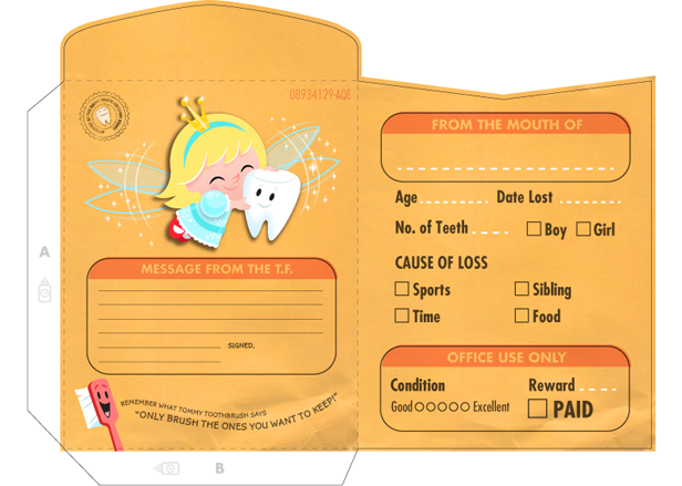 Special delivery from the tooth fairy printable tooth fairy free tooth fairy printables envelope hallmark hallmarkideas yelopaper Image collections