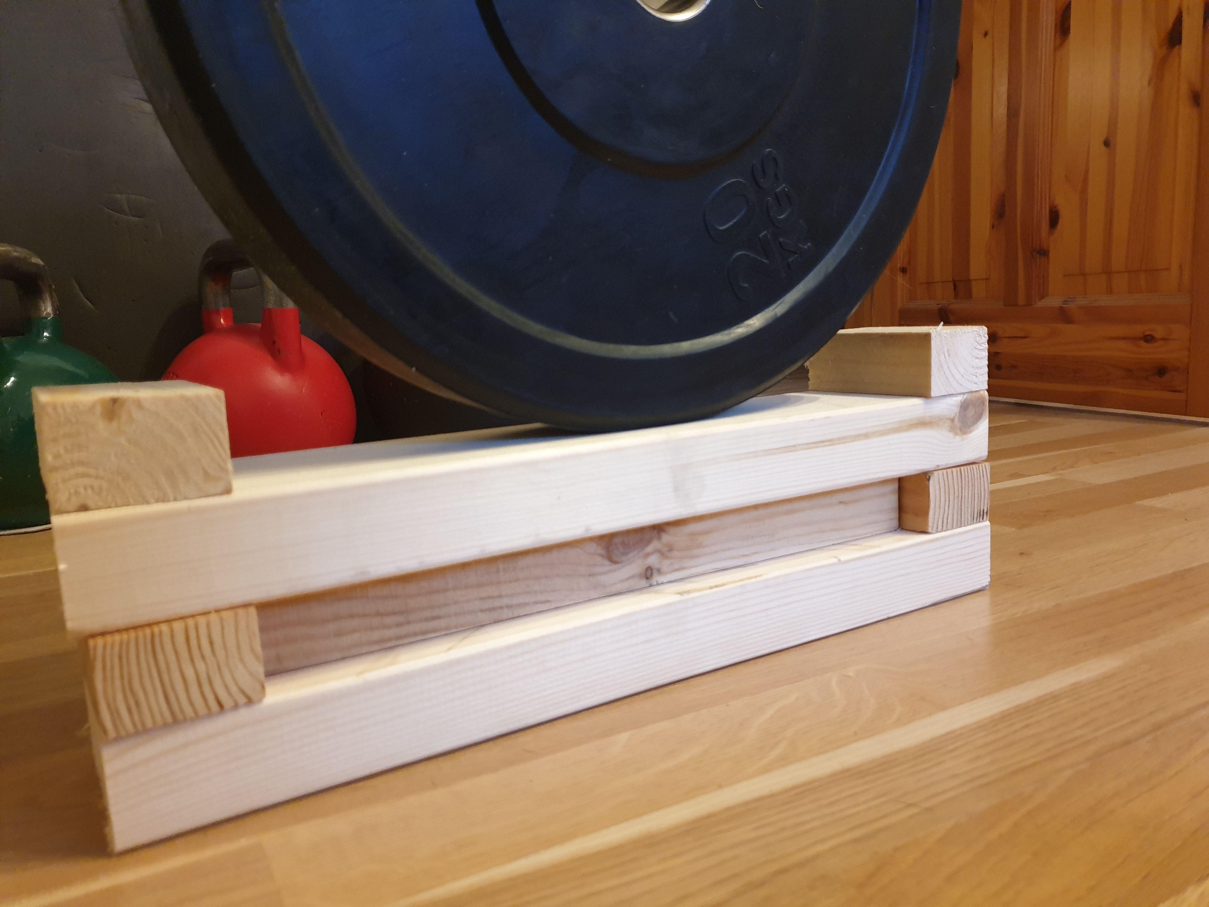 Diy Deadlift Blocks For Elevated Deadlifts Stackable Diy Blocks At Home Gym Deadlift
