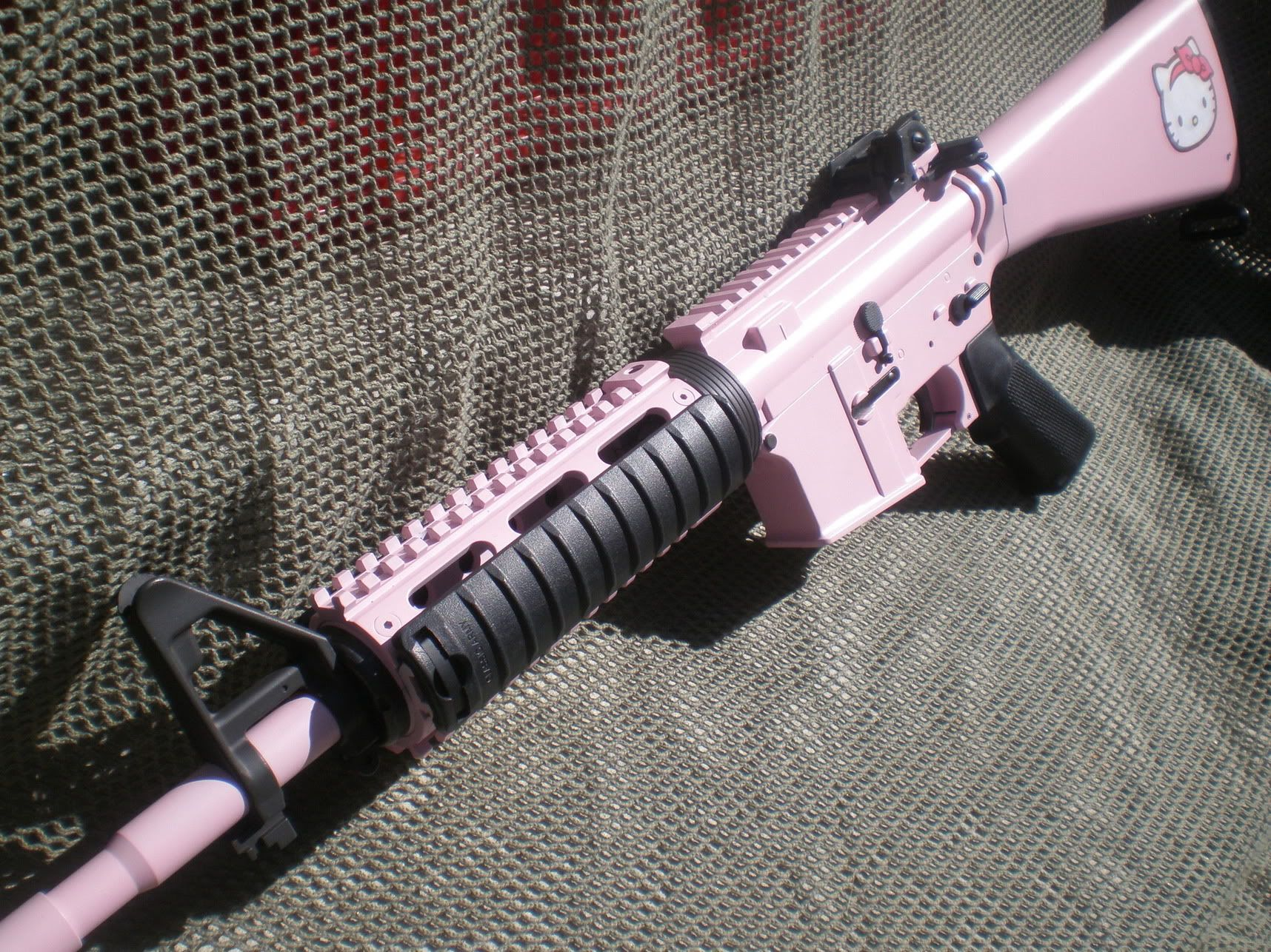 ccaa1ad51eda im sure the wife will want this Hello Kitty M4 carbine