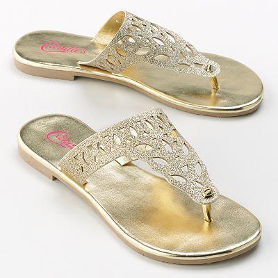 Love, Love, LOVE! Glitter flip-flops