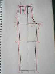 Image result for simple cigarette pant pattern