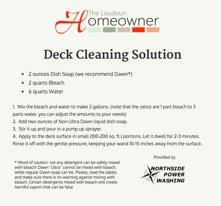Outdoor Garden How To Clean And Preserve Your Deck Deck