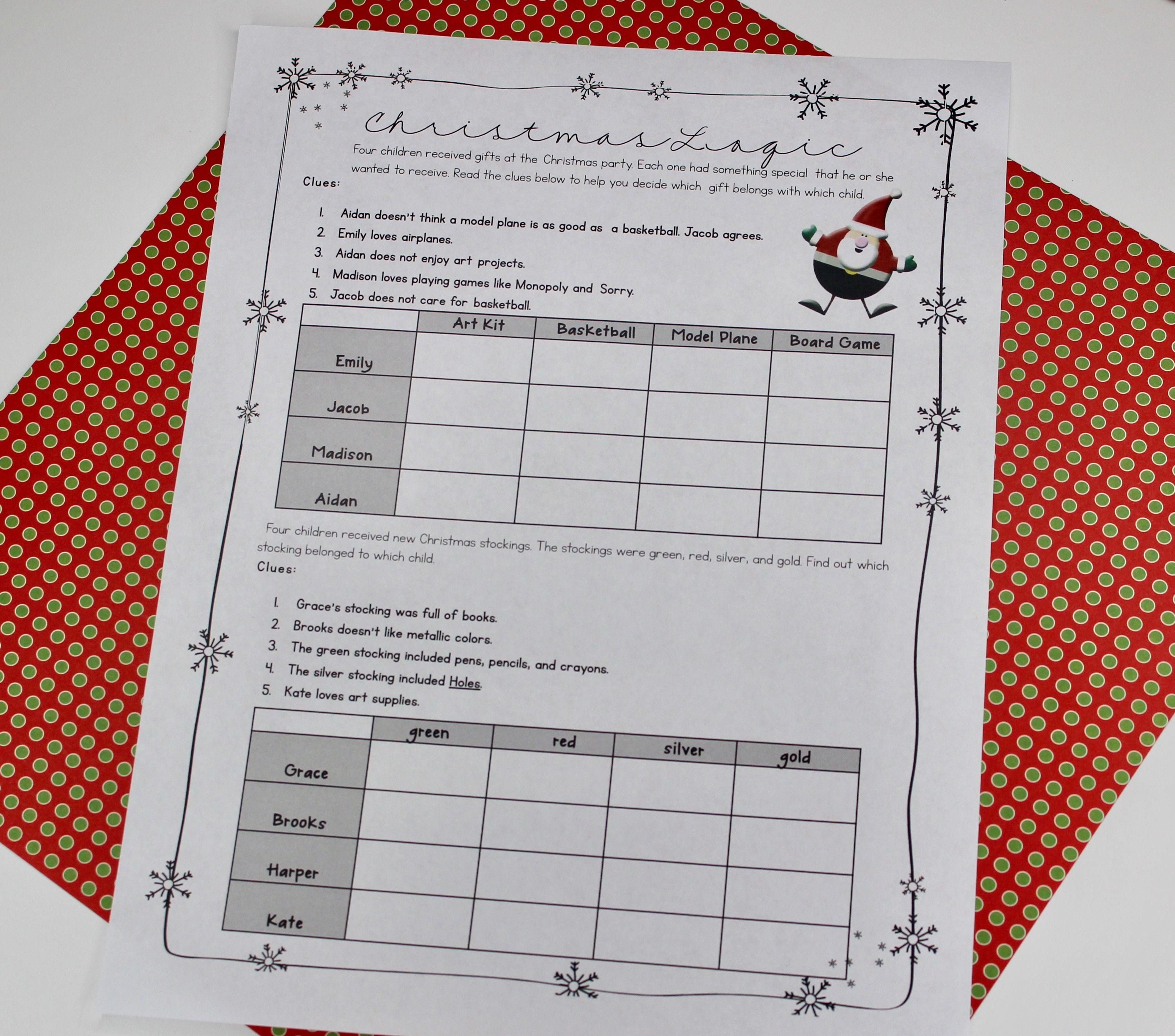 Classroom Christmas Activities