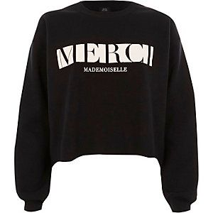 2b81074600b Black  merci  block print sweatshirt Printed Sweatshirts