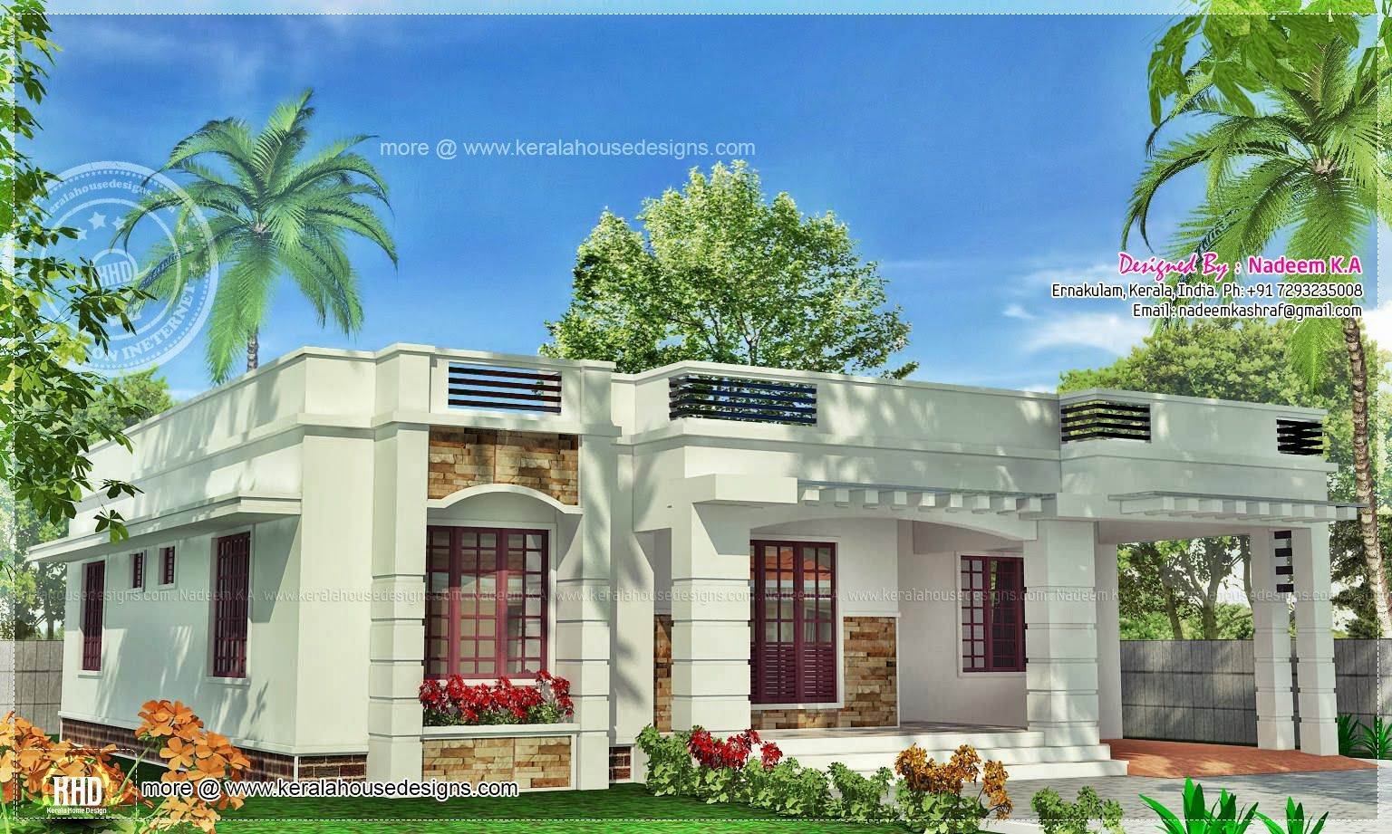 1 floor house plans kerala home design and style for Single floor house plans kerala style