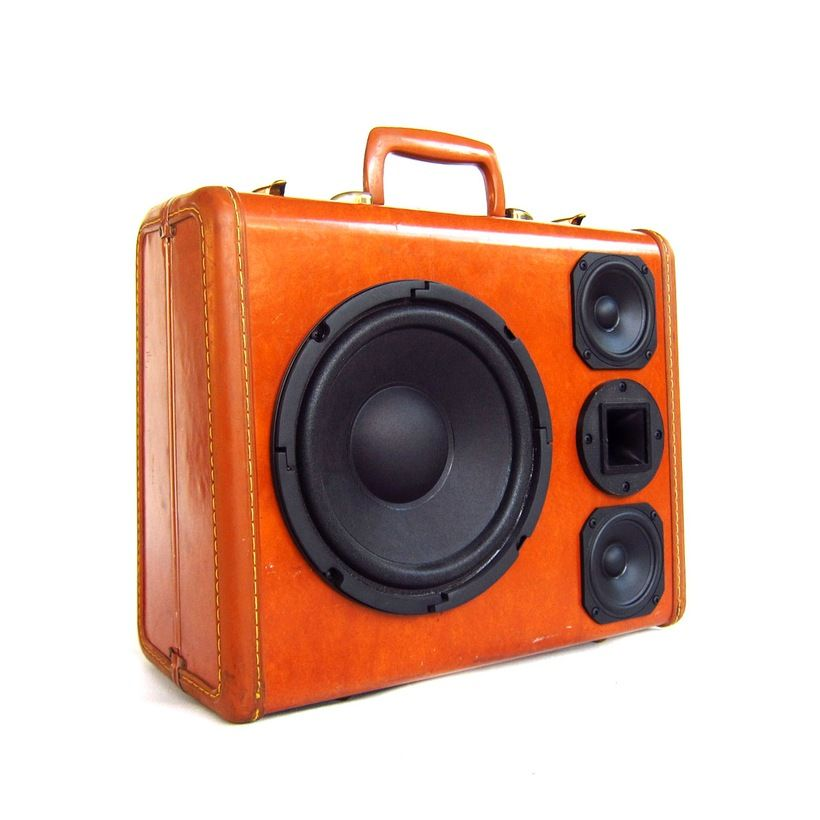 "200 Watt Small BoomCase with Big Punch  8"" Kenwood Sub-Woofer - Two Full/Mid Range Speakers and One Super Horn Tweeter. The BoomCase Store"
