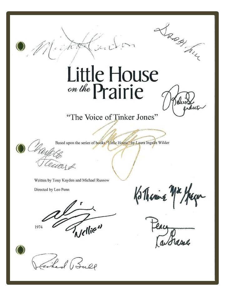 Little House on The Prairie Script Signed rpt Michael Landon Melissa Gilbert | eBay