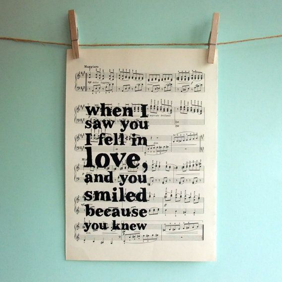 I want to do this for my favorite Frank Sinatra song lyrics