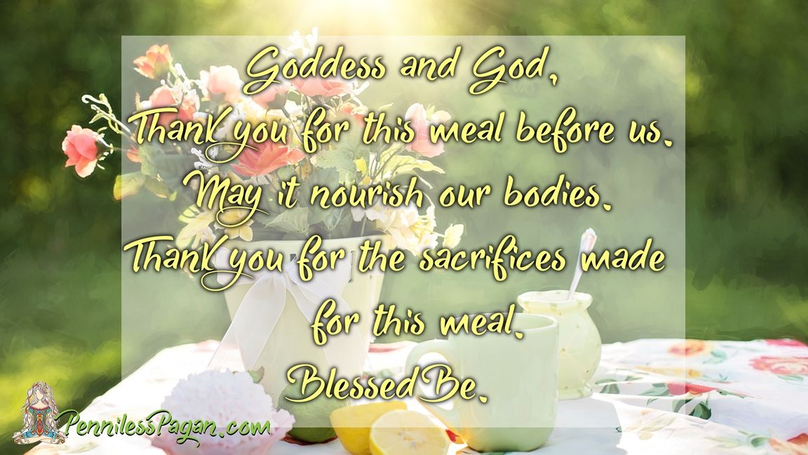 Simple Food Blessing from PennilessPagan.com #Pagan #Wiccan #Blessing